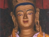 "One of the ""Four Exalted Brothers"" Avalokiteshvara statues, Phagpa Wati of Kyirong, which is now with H.H. the Dalai Lama in Dharamsala."