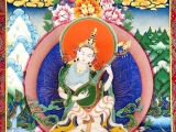 Beautiful thangka of Buddha of wisdom Saraswati