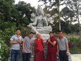 Dharma and sangha friends from the Monastery
