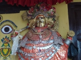 The holy statue of Vajra Yogini at Sanku, Nepal