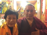 Our own Kecharian Mdm. Chua with the oracle of Dorje Shugden Gen Tenzin Tsultrim in Lhasa, Tibet 2016