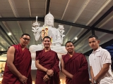 It\'s nice to have monks visitors and resident monks in Kechara