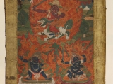 Such a old and ancient thangka painting of Dorje Shugden. He has been around in Tibet practiced for hundreds of years.