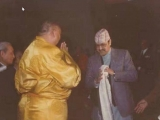 Nepalese King Birendra receives His Holiness Panchen Rinpoche in Nepal