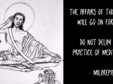Click on picture to enlarge and see what Milarepa says. Profound.