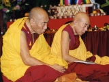 Two of my teachers from Gaden Shartse Monastery in South India. Left side is Most Venerable Geshe Tsultrim Gyeltsen whom I lived with for 8 years in Los Angeles where his centre Thubten Dhargye Ling is located. On the right is the abbot emeritus H.E. Kyabje Lati Rinpoche the scholar and yogi. I was very fortunate to have them in my life and learn so much dharma from them. Tsem Rinpoche