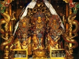 One of the most sacred statues of Avalokitesvara made of sandalwood housed in Lhasa, Tibet. He has shown miracles also. Every pilgrim wishes to make offerings to this Lord of Compassion.