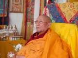 2017-His Holiness the 101st Gaden Tripa, Jetsun Lungrik Namgyal is doing well and 90 years old. His Holiness Lungrik Namgyal is a powerful master of sutra and tantra and practitioner of Dorje Shugden. Currently residing in France.