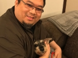 Little Mumu boy and myself.. He was not a pet but family to me. I love him tremendously and always will. Tsem Rinpoche