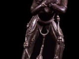 Closeup- Very rare statue of Vajra Yogini with her hands crossed at the heart and facing us. Beautiful.