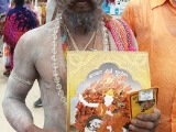 Indian sadhus and mendicants also very happy to receive Bhagwan Dorje Shugden