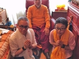 Recently Beng Kooi and Martin on behalf of myself and Kechara was lucky to have audience with His Holiness Gaden Trisur Rinpoche Jetsun Lungrik Namgyal of Gaden Shartse Monastery. He lives in around Paris, France. His Holiness is 91 years old and very healthy and alert. He was the 101st throne holder for Tsongkapa and was the head of the Gelugpa school of Buddhism and was very successful during his tenure. He is a strong practitioner of both Sutra and Tantra of Je Tsongkapa\'s tradition and a master of all Buddhist knowledge. He holds steadfast to his protector Dorje Shugden very strongly. So we can see even the highest throneholders who are masters of Sutra and Tantra also practices Dorje Shugden knowing the benefits.