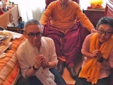 His Holiness Gaden Trisur Rinpoche grants audience to Beng Kooi and Martin in France.  Read more on His Holiness Gaden Trisur Rinpoche: http://bit.ly/1PlaNNS