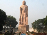 Beautiful Buddha built in Sarnath, India. Sarnath was the place where Lord Buddha first starting teaching the sacred Dharma. Tsem Rinpoche