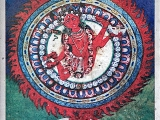 This Flying Vajra Yogini artwork is framed and over the doorway of a Vajra Yogini chapel in Nepal. The Chapel is dedicated towards the Flying Vajra Yogini. Beautiful.