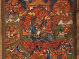 Old Tsui Marpo thangka with his other 6 brothers. So it\'s the 7 blazing Tsen brothers. Beautiful.
