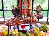 Offerings are made daily to the enlightened awakened beings on my shrine. Today we offered many fresh and clean fruits. May all be blessed by finding the path to enlightenment and gaining attainments. Tsem Rinpoche