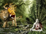 A Indian Yogi meditating on the path of Vajra Yogini deep in the forest as he is guarded by his wisdom protector Dorje Shugden. If we rely on him, Dorje Shugden will watch over us unwaveringly.~Tsem Rinpoche