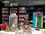 Tsem Rinpoche\'s shrine next to his working table