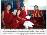 Very nice picture of Pabongka Rinpoche, Oracle of Shugden and Gen Lobsang Yeshe who helped HH Dalai Lama out of Tibet.