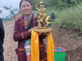 This lady in Tibet loves her wonderful gift. I am happy for her. Tsem Rinpoche