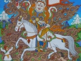 Tsangpa Karpo-Protector of the line of Panchen Lama incarnations. They can take trance in certain oracles and speak.