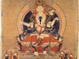 Beautiful Avalokitesvara scroll painting.