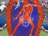 Beautiful and sacred Vajra Yogini painting for you to download free in high file to print out, frame and place on your shrine or share with friends. May you be blessed. Download here:   https://bit.ly/2N5zI02