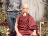 Zong Rinpoche and Tsem Rinpoche in 1987 Los Angeles.