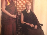 His Holiness Kyabje Zong Rinpoche with his disciple Kyabje Dagom Rinpoche. Beautiful picture.