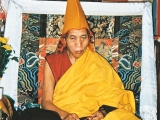 His Holiness Sharpa Choje Rinpoche Jetsun Lobsang Nyima of Gaden Shartse Monastery. He was a supreme master of both Sutra and Tantra. He served as abbot of both Gaden Shartse Monastery as well as Gyuto Tantric college. After serving as abbot of Gyuto Tantric college he entered into a few long term (3 year, 3 month and 3 day) Vajra Yogini retreats in the forest. He completed that long retreat twice and was going to enter it again till he was asked to be abbot of Gaden Shartse Monastery by H.H. the Dalai Lama. He was a great practitioner of Vajra Yogini\'s tantra as well as Dorje Shugden. He was a scholar of the highest renown and he was highly sought after for teachings. He was very devoted to Dorje Shugden throughout his whole life as a pure monk. I was fortunate enough to have him as one of my teachers. Humbly, Tsem Rinpoche