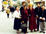 Kyabje Zong Rinpoche and myself in Los Angeles\' Chinatown. We had gone shopping that day. I was 18 back then. Tsem Rinpoche