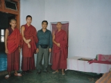 My father Mr. Lobsang Gyatso and myself. He came to Gaden Monastery to visit me. While he was alive he lived in Taiwan. Tsem Rinpoche