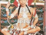 His Holiness Kyabje Trijang Rinpoche in Heruka Tantric dress