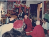 This was Tsem Rinpoche with Kyabje Gangchen Rinpoche in his house in Nepal. Kyabje Gangchen Rinpoche was asking Tsem Rinpoche to give teachings in Gangchen Ladrang.