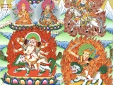 Beautiful painting of Nechung Pehar Gyalpo & Dorje Shugden together. Masterpiece. More free downloads: https://bit.ly/2oxb4qU