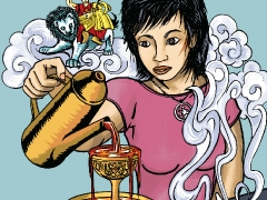 The first title published by Kechara Comics is Karuna Finds A Way. It tells the tale of high-school sweethearts Karuna and Adam who had what some would call the dream life. Everything was going great for them until one day when reality came knocking on their door. Caught in a surprise swindle, this loving family who never harmed anyone found themselves out of luck and down on their fortune. Determined to save her family, Karuna goes all out to find a solution. See what she does- https://bit.ly/2LSKuWo