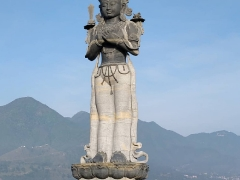 Second picture-Standing Manjushri Statue at Chowar, Kirtipur, Nepal.