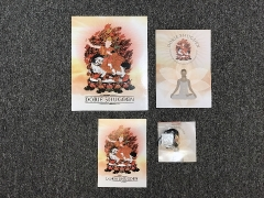 THE ENGLISH SET: 8R card, booklet, 5R card, brochure and pendant