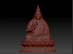 Fine tuning the 3D model of Rinpoche's statue
