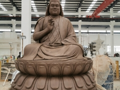 Creating the clay mould for Tsem Rinpoche's 7ft statue