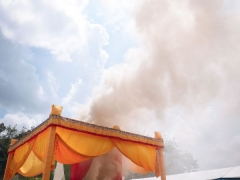 The column of fragrant smoke moves in different directions, which could be significant in the search for Rinpoche's reincarnation.