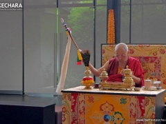 A grand Yangdup puja in Wisdom Hall, for increase and auspiciousness.