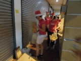 27/12/12: KSK volunteers distributing food and Christmas goodies. Patsy