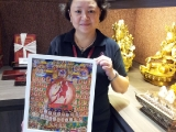 May Ong invited this beautiful printed Vajrayogini thangka, blessed and sponsored by Tsem Rinpoche in support of Kechara House.Available now at KH Souvenir Shop. Lucy Yap.