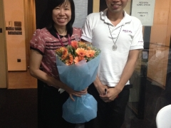 Our flower fairy Miss Yen Pin from Kechara Blooms just sent the fliwer that we order for us. So lovely. ~Wylfred