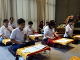 Day 1- Lama Tsongkhapa Retreat session 1 has just started.  Participants meditated and focus in the retreat._PB