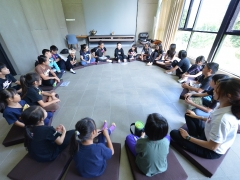 W.O.A.H. Camp 2015 - Seated in a big circle... Let the games began. Stella Cheang, KSDS