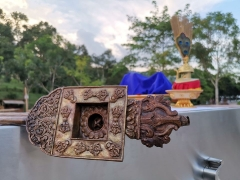 Highlights from the Shize Peaceful Fire Puja: A close-up of the ladle. - shared by Pastor Antoinette