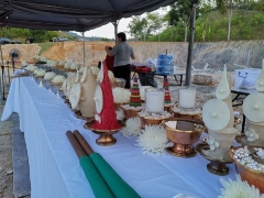 Highlights from the Shize Peaceful Fire Puja: Some of the many offering items & substances used during this highly blessed Fire Puja. - shared by Pastor Antoinette